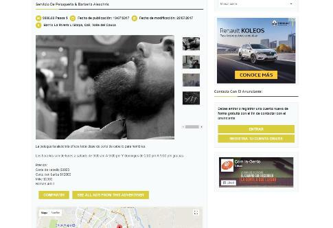 Ejemplo de Anuncio en  Yeepi Clasificados :: Peluquería Barbería AlexChris